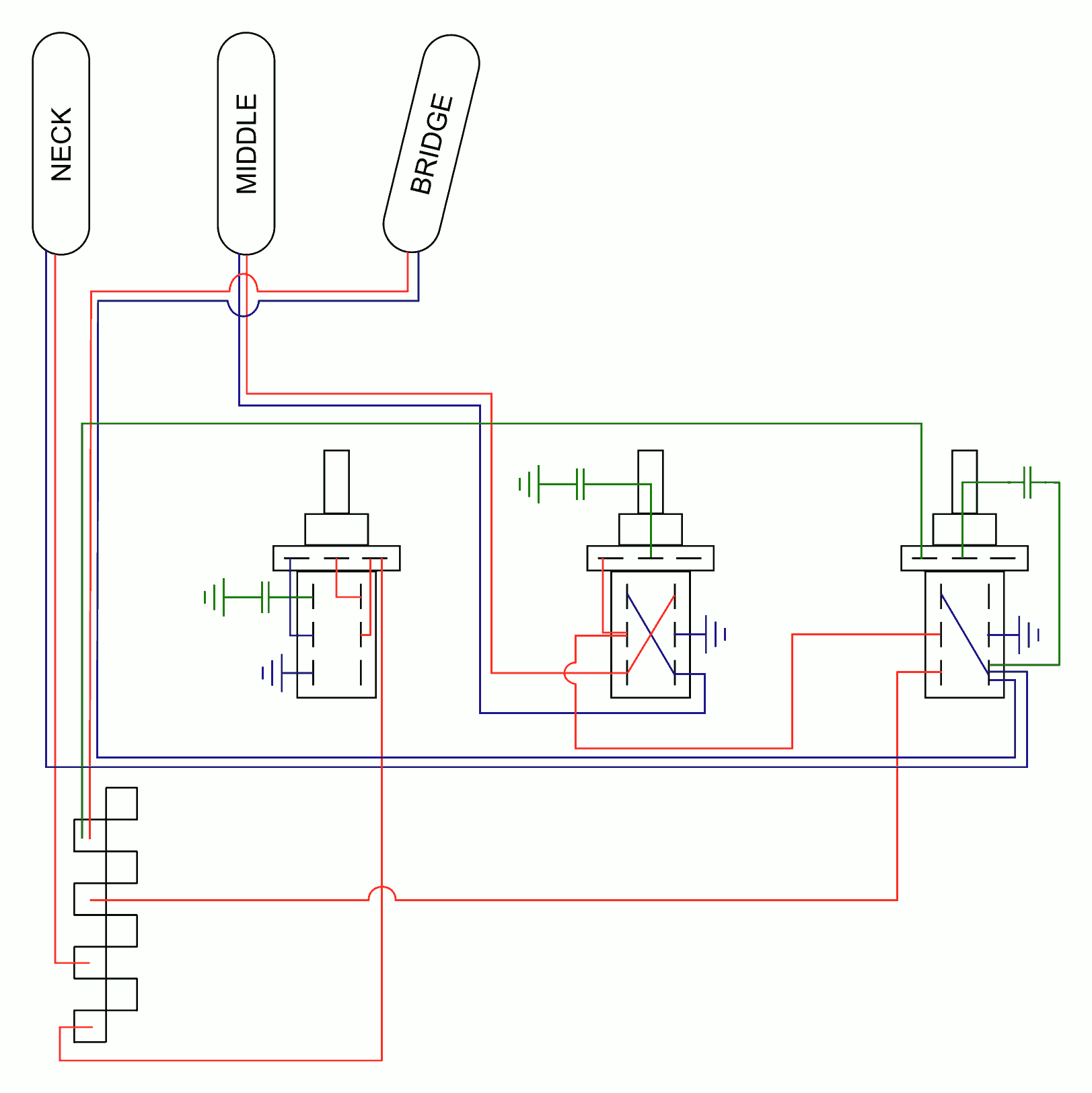 Series Parallel Wiring Diagram : Strat series parallel wiring diagram